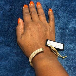 Gold bracelet with diamond shine by Bebe